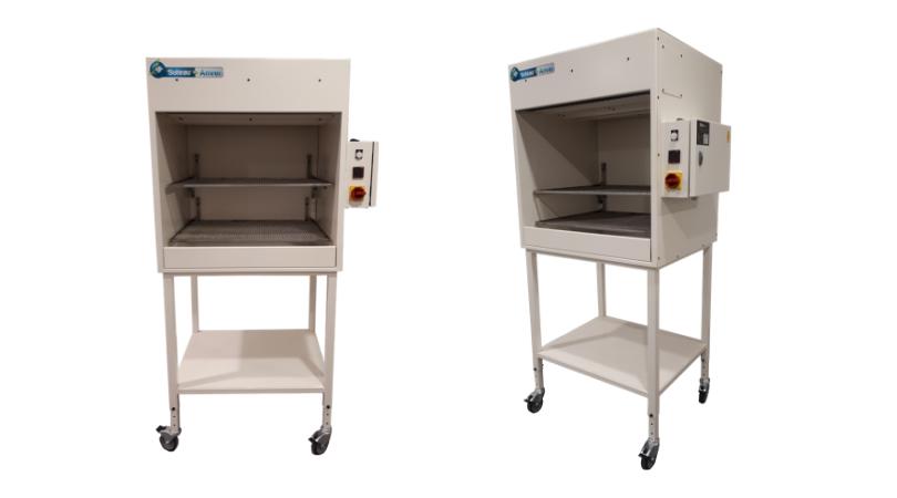 Hotte de mise en température SA 63 destinée au séchage de pièces, sacs ou de bagages complets.