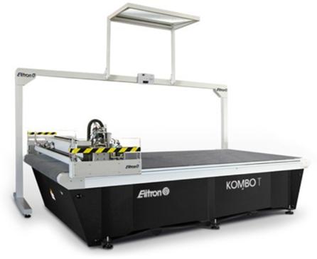 Table de découpe numérique avec couteau oscillant dédiée à la découpe des matériaux souples et semi-rigides