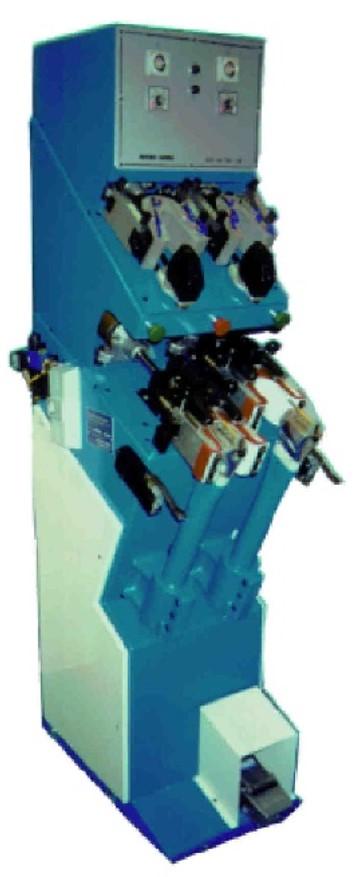 Poste de galbage et de réactivation modèle 408/409/489 permettant la réactivation, le galbage et le rabattage complet de la marge de montage.