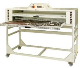 Four de séchage  horizontal double tiroir pour le séchage des pièces après coloration pour la maroquinerie, la sellerie et la bagagerie.